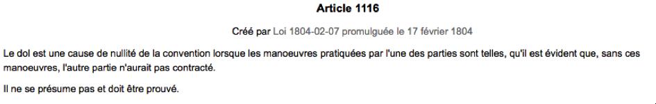 Dol pangelex - Article 675 du code civil ...